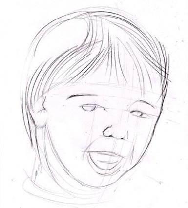 детализация лица ребенка