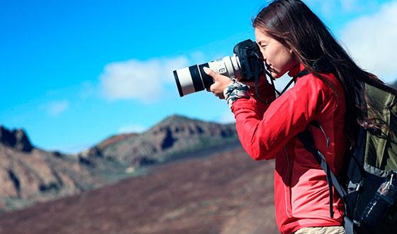 фотограф на улице