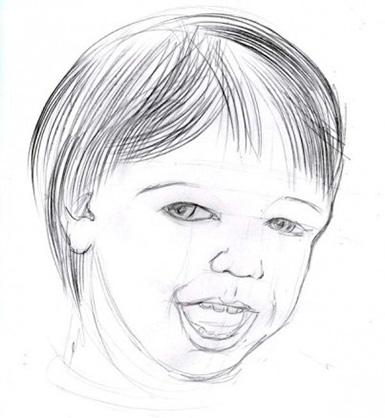 глубокая детализация лица ребенка