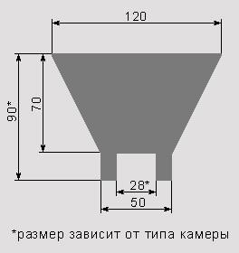 схема рассеиватель из пластика с фальгой