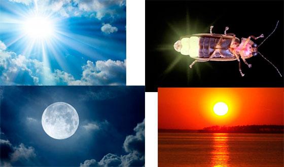 естественные источники света