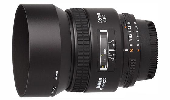nikon 85mm f1.8d с блендой