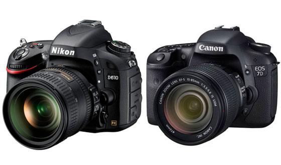 nikon d610 и canon eos 7d