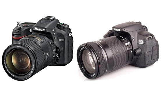 nikon d7100 и canon eos 650d
