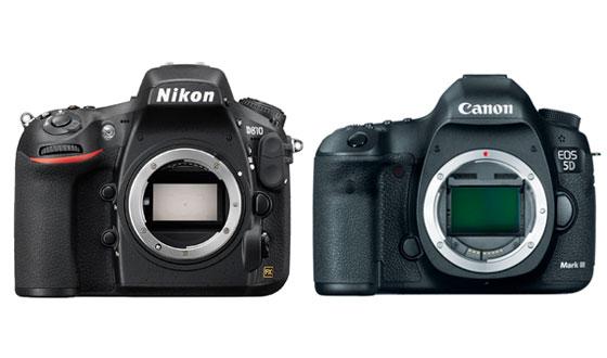 nikon d810 и canon eos 5d mark iii