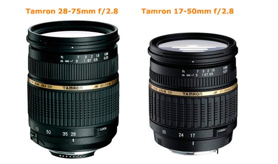 tamron 28-75мм и 17-55мм