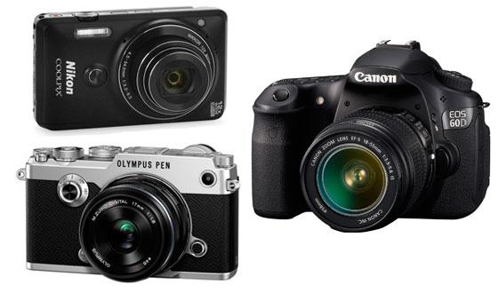 три типа фотоаппаратов