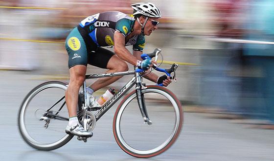 велосипед в движении