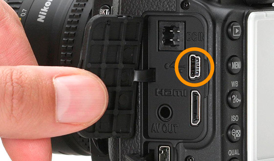 usb разъем в фотоаппарате