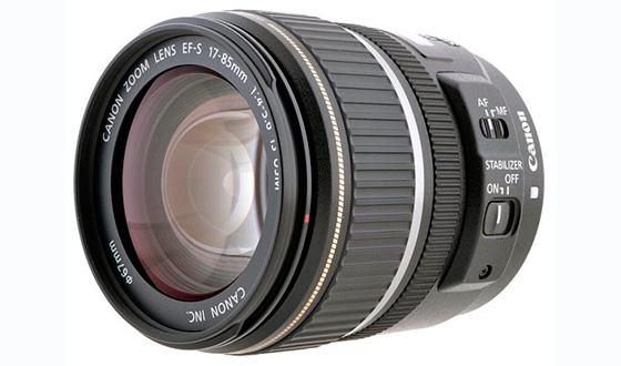 Canon 17-85mm f 4-5.6 вид спереди