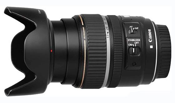 Canon EF-S 17-85mm вид сбоку