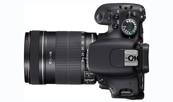 Canon EOS 600d вид с верху