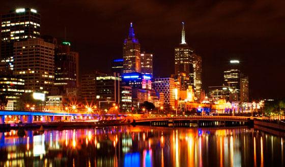 фотография ночного города