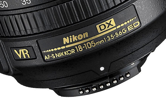 маркировка объектива nikon 18-105