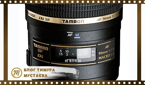 Маркировка объективов tamron