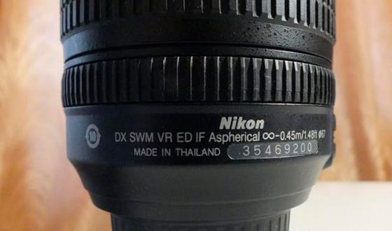 задняя часть объектива никон 18-105