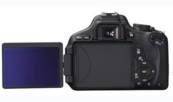 задняя сторона Canon EOS 600d