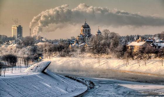 зимний и морозный день