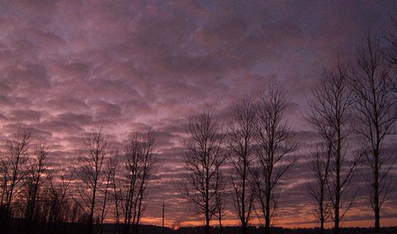 красивый закат на фото