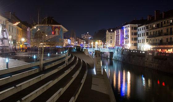 ночной город на никон 18-200 мм