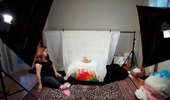 съемка малыша в домашних условиях